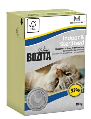2051 26852 - Bozita Feline Tetra Indoor & Sterilised 190 g