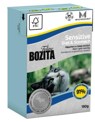 2051 26854 - Bozita Feline Tetra Sensitive Diet & Stomach 190 g