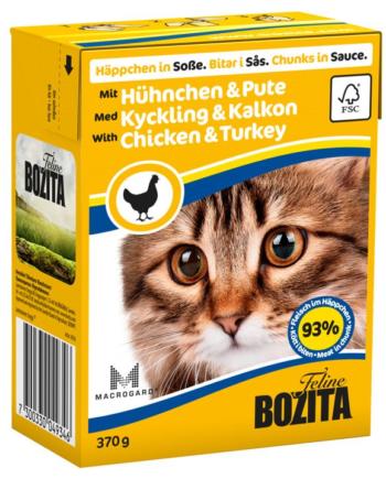 2051 26924 350x435 - Bozita Katt Tetra Bitar i sås med Kyckling & Kalkon 370 g