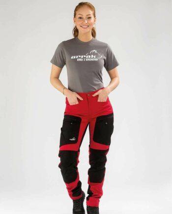 2051 41621 350x435 - Arrak Active Stretch Pants Lady, Rød