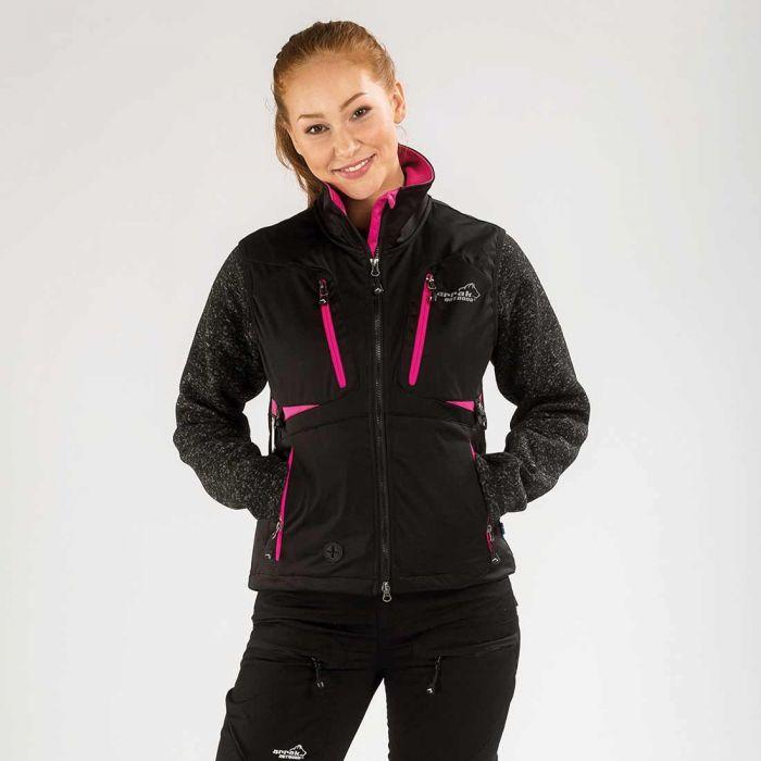 2051 42861 - Arrak Acadia Softshell vest, Lady, svart/rosa