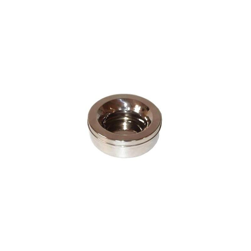 2051 44237 - Non-splash vannskål i metall, 1,2 l