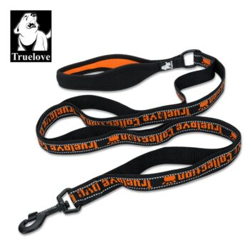 2051 44238 350x350 - Truelove leiebånd 140 cm x 15 mm, Svart/orange