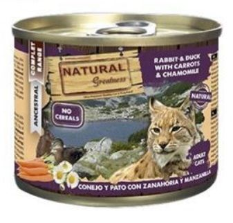 2051 47832 - Natural Greatness Rabbit & Duck with carrots adult, 200 gr