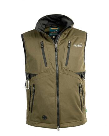 2051 52210 350x435 - Arrak Acadia Softshell vest, Unisex, Olive