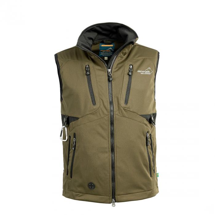 2051 52210 - Arrak Acadia Softshell vest, Unisex, Olive