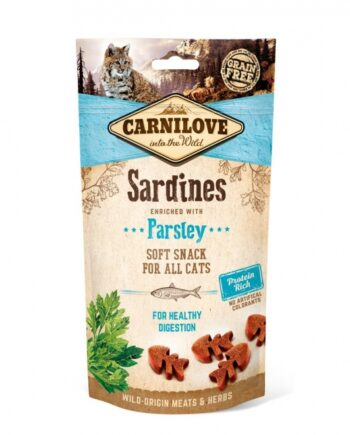 2051 52395 350x435 - Carnilove Cat Semi Moist Snack Sardine, 50 gr