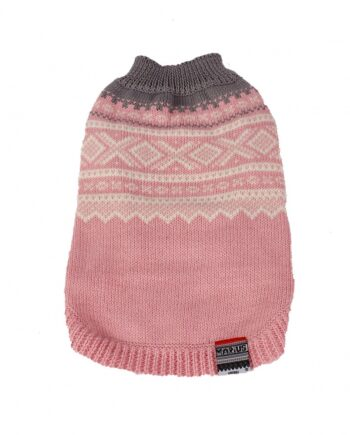 2051 52484 350x435 - Mariusgenser i ull, rosa/hvit/blågrå