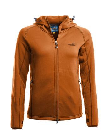 2051 57088 350x435 - Arrak Powerfleece hood lady, Burnt Orange